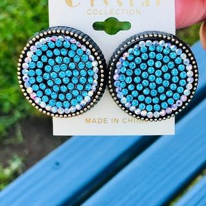 ✨NEW✨Turquoise Crystal Studs!